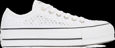 Converse Chuck Taylor All Star Handmade Crochet Lift Low Top White/ Black 564873C
