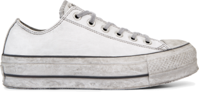 Converse Chuck Taylor All Star Leather Smoke Platform Low Top White 562911C