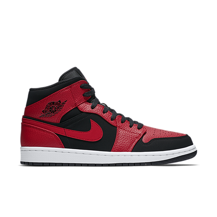 "Jordan Air Jordan 1 Mid ""Black/Red"" 554724-054"
