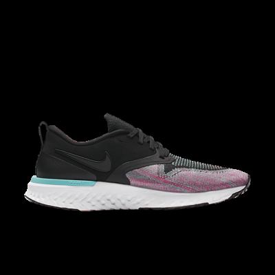 Nike Odyssey React 2 Flyknit Black Hyper Jade Ember Glow (W) AH1016-003