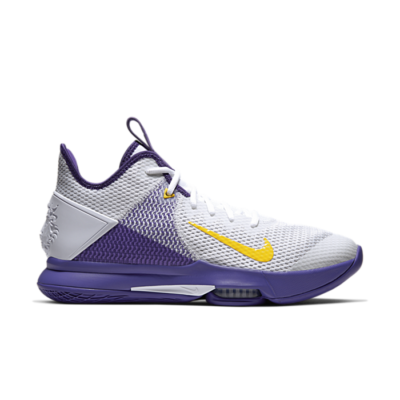 Nike LeBron Witness 4 White/Voltage Purple BV7427-100