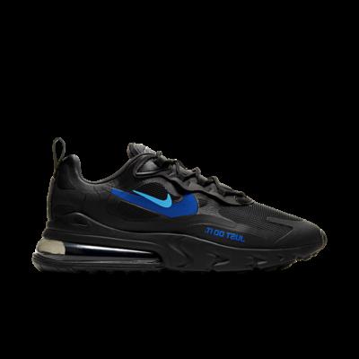 """Nike Air Max 270 React """"Black/ Blue"""" CT2203-001"""