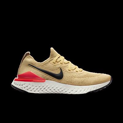 Nike Epic React Flyknit 2 Club Gold Black Red Orbit BQ8928-700