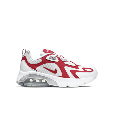 Nike Air Max 200 White University Red (GS) AT5627-101