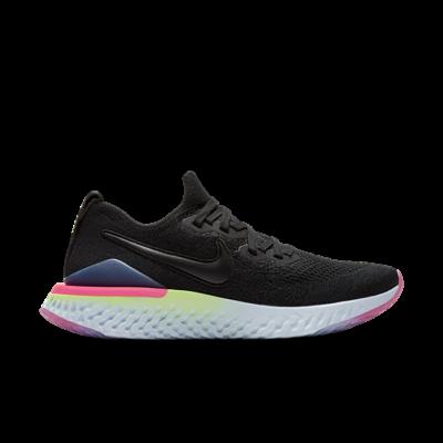 Nike Epic React Flyknit 2 Black Sapphire Hyper Pink (W) BQ8927-003