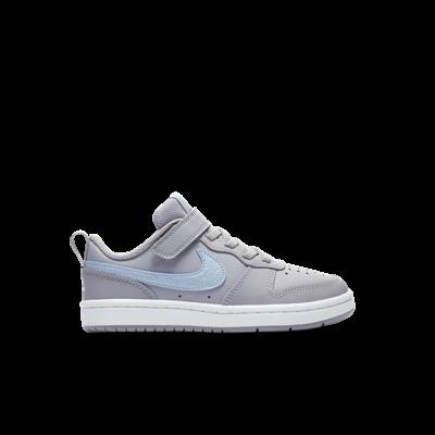 Nike court borough low sneakers grijs kinderen