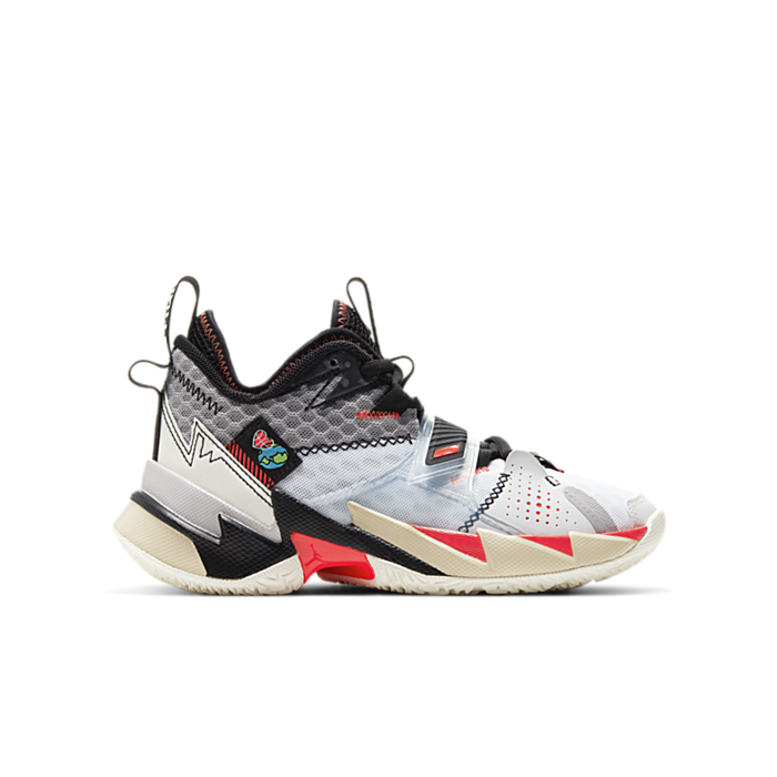 Jordan Why Not Zer0.3 White Bright Crimson Black (GS) CD5804-101
