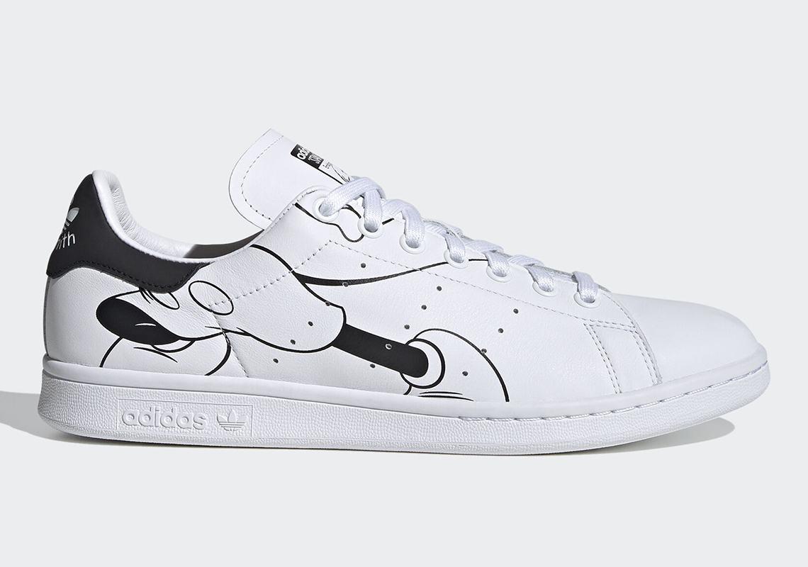 stan smith black white mickey adidas
