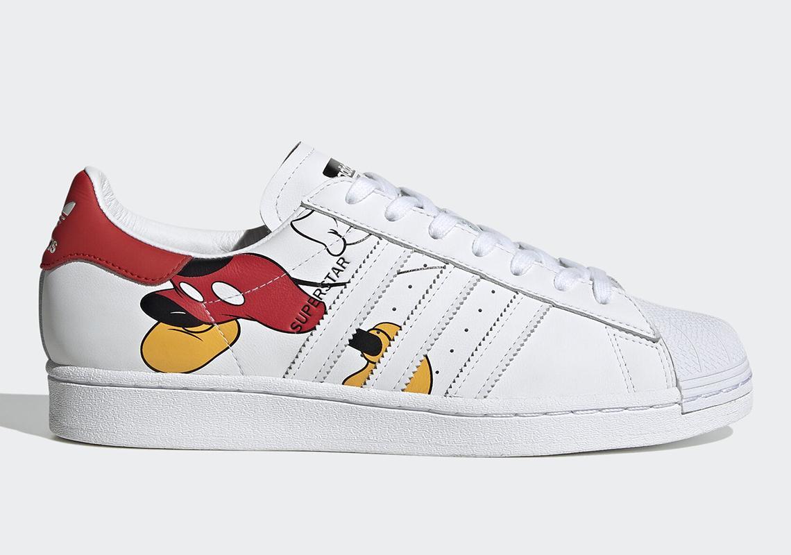 superstar adidas disney mickey
