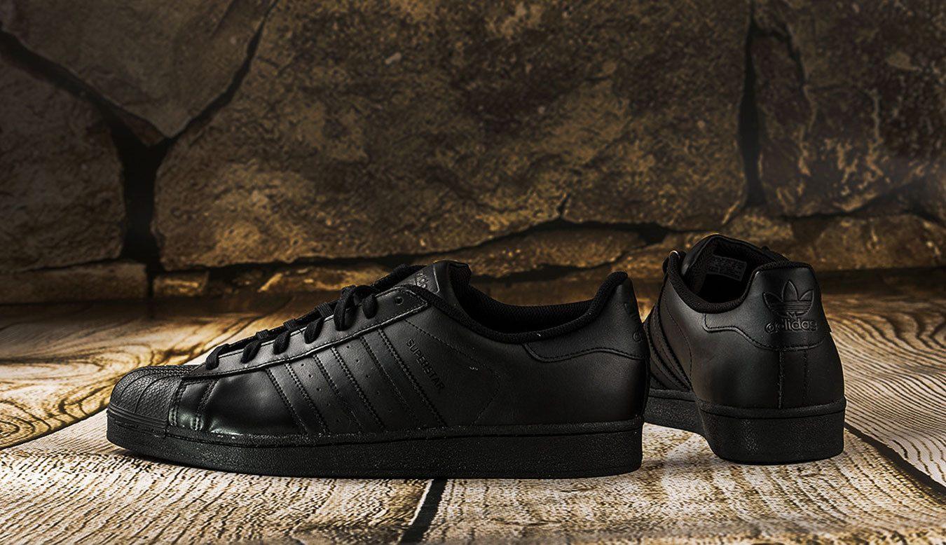 adidas superstar foundation black shell toe