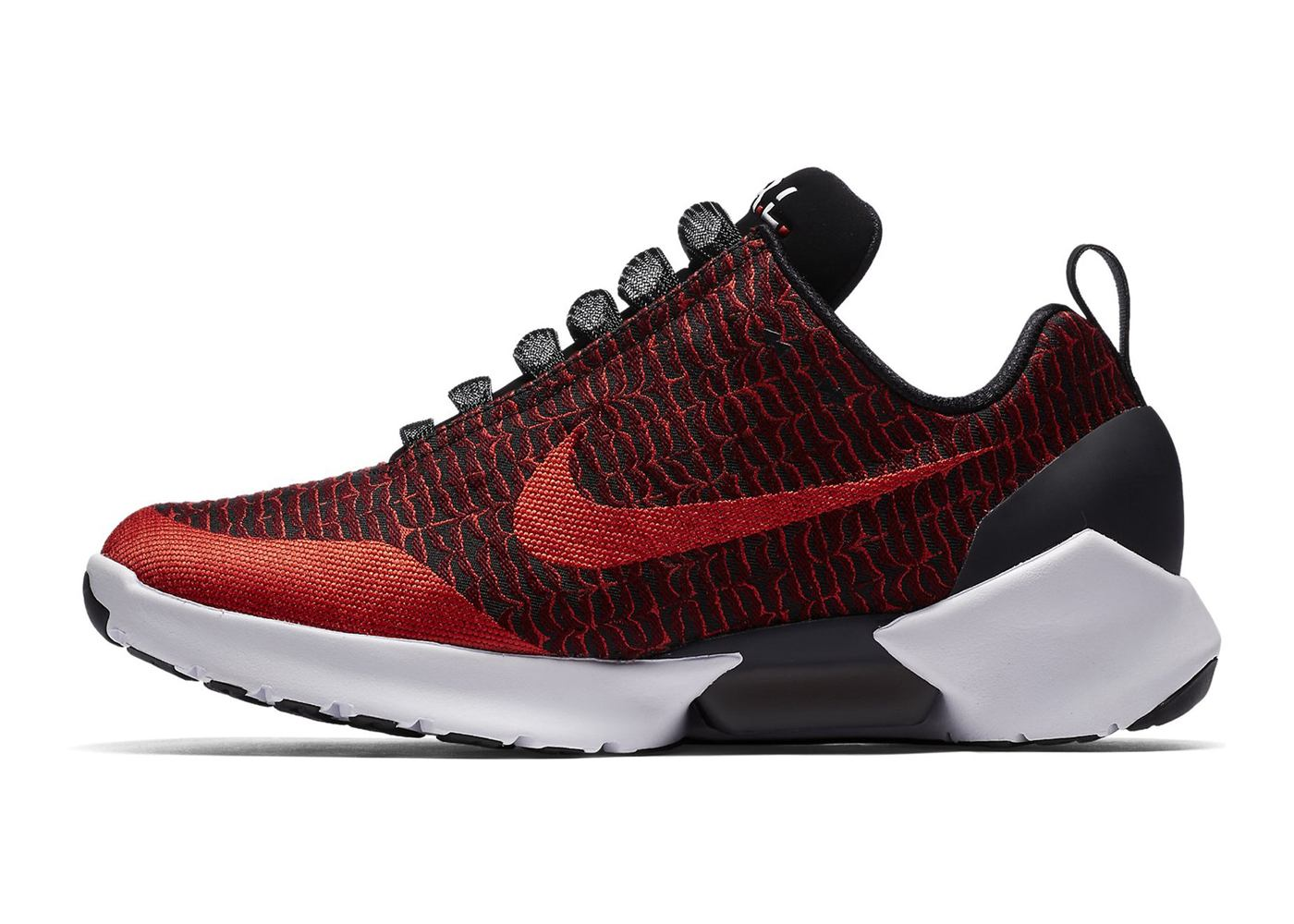 nike self lacing shoe hyperadapt rood