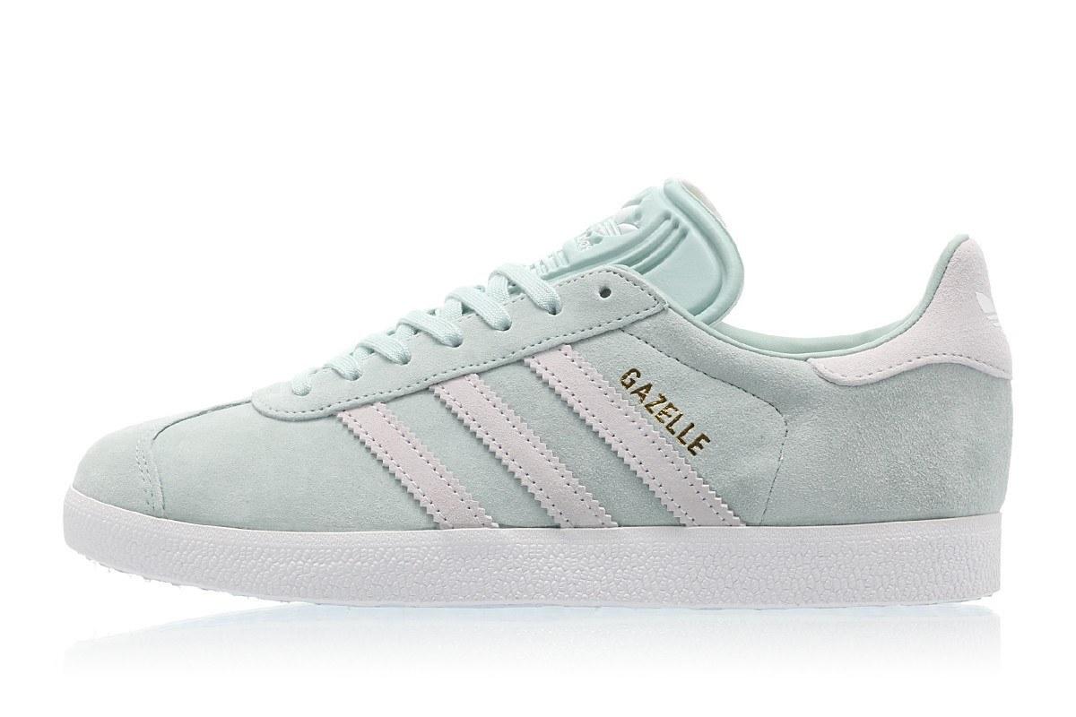 gazelle adidas lichtblauw wit dames