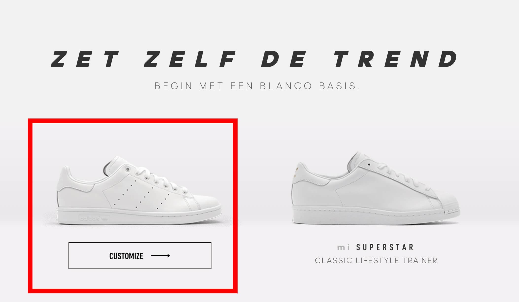 Design je adidas sneakers