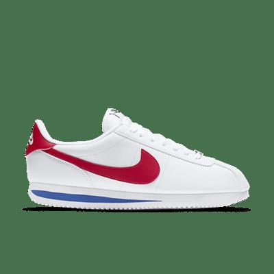 """Nike CORTEZ BASIC LEATHER """"WHITE"""" 819719-103"""
