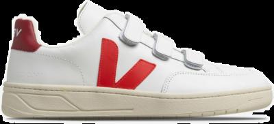 "Veja V-Lock Leather ""Extra-White Pekin Marsala"" XCM021942"