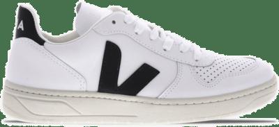 "Veja V-10 Leather ""Extra-White Black"" VXM020005"