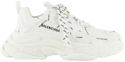 Balenciaga Triple S Allover Logo White 536737 W2FA1 9010