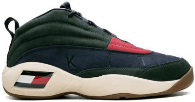 Tommy Hilfiger Skew Lux Basketball Sneaker Kith Green Green/Navy-Red KH9243-106