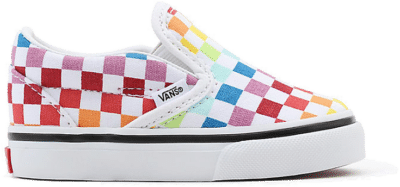 Vans Slip-On Rainbow Checkerboard (TD) Rainbow/True White VN000EX8U09
