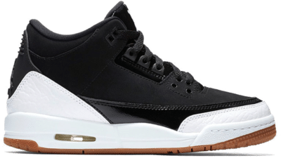 Jordan 3 Retro Black White Gum (GS) 441140-022