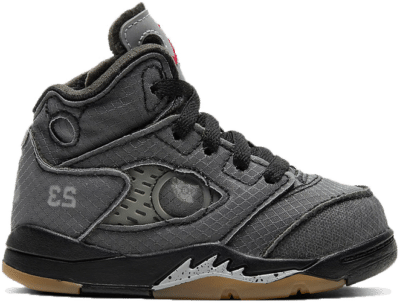 Jordan 5 Retro Off-White Black (TD) CV4828-001