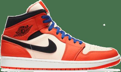 Jordan 1 Mid Team Orange Black 852542-800