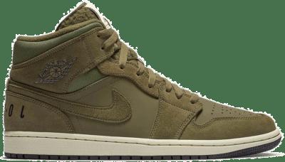 Jordan 1 Mid Olive Canvas (2018) BQ6579-300