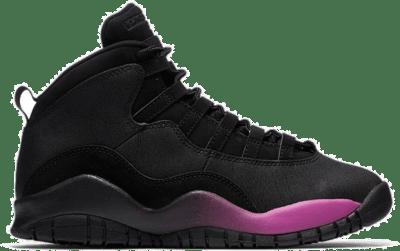 Jordan 10 Retro Black Fuchsia Black (GS) 487211-017