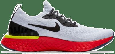 Nike Epic React Flyknit White Bright Crimson AQ0067-103