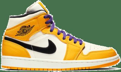 Jordan 1 Mid SE Lakers 852542-700