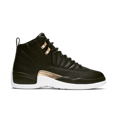 Jordan 12 Retro Black Metallic Gold White (W) AO6068-007