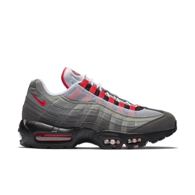 Nike Air Max 95 'White and Solar Red and Granite' White/Granite/Dust/Solar Red AT2865-100
