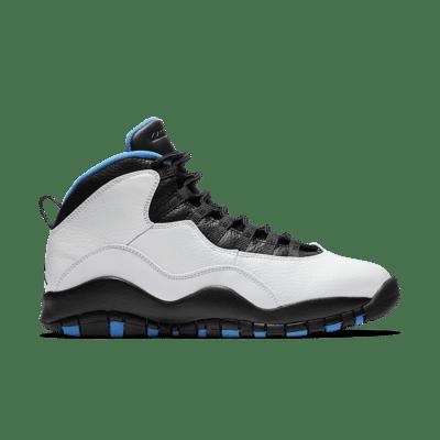 Air Jordan 10 Retro 'Powder Blue'. White/Black/Dark Powder Blue 310805-106