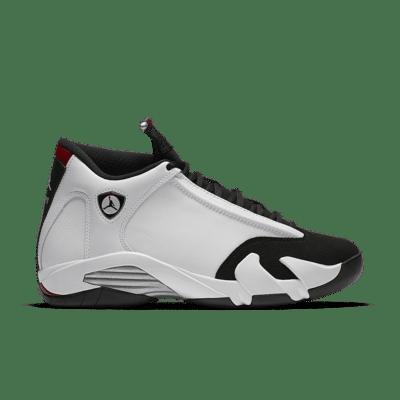 Air Jordan 14 Retro 'Black Toe' White/Varsity Red/Metallic Silver/Black 487471-102