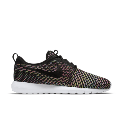 Nike Roshe One Flyknit 'Multicolour' Black/Pink Pow/Blue Glow/Black 677243-013