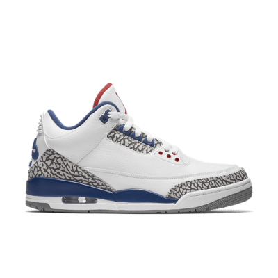 Air Jordan 3 Retro OG 'White & Cement Grey & Blue' White/True Blue/Cement Grey/Fire Red 854262-106