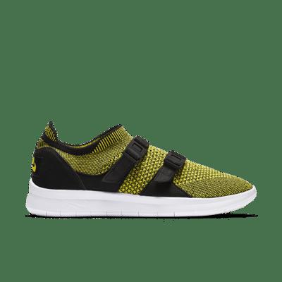 Women's Nike Air Sock Racer Ultra Flyknit 'Yellow Strike & Black' Black/Black/White 896447-003