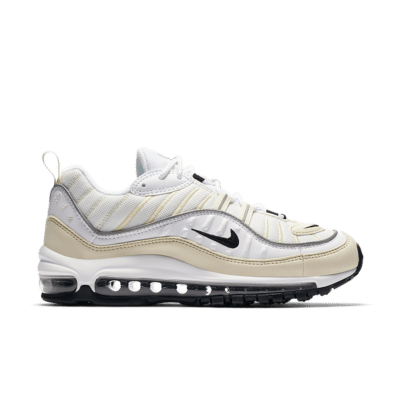 Nike Women's Air Max 98 'White & Black & Fossil' White/Fossil/Reflect Silver/Black AH6799-102