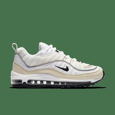 Nike Women's Air Max 98 'White & Black & Fossil' White/Fossil/Reflect Silver/Black AH6799-102