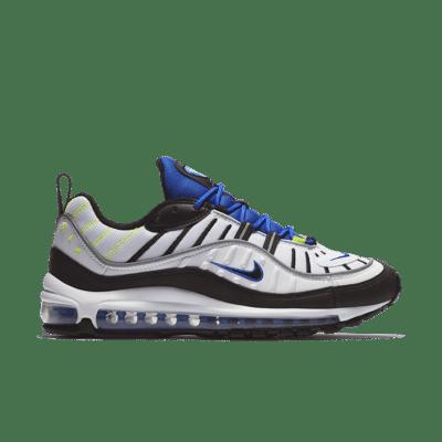 Nike Air Max 98 'White & Black & Racer Blue' White/Racer Blue/Volt/Black 640744-103