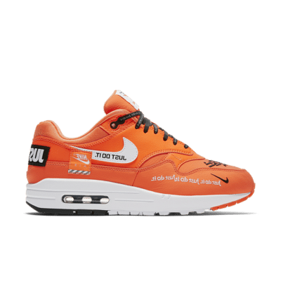 Nike Women's Air Max 1 Just Do It Collection 'Total Orange' Total Orange/Black/White 917691-800
