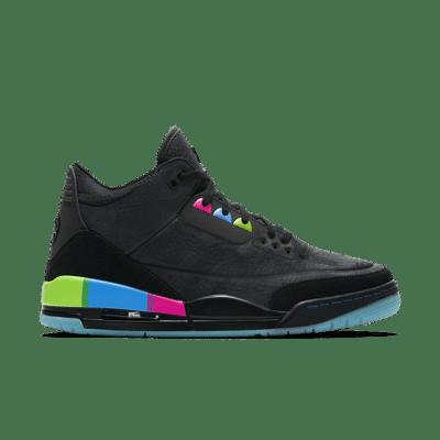 Air Jordan 3 'Quai 54' Black/Electric Green/Infrared 23/Black AT9195-001
