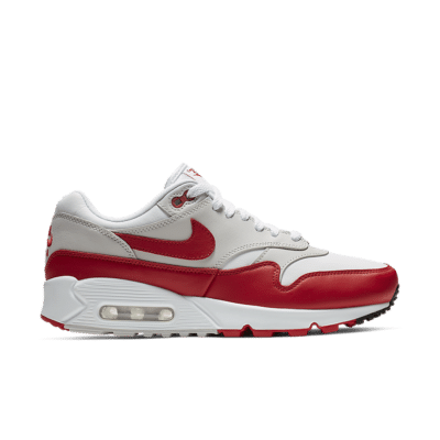 Nike Women's Air Max 90/1 'White & University Red' White/Neutral Grey/Black/University Red AQ1273-100