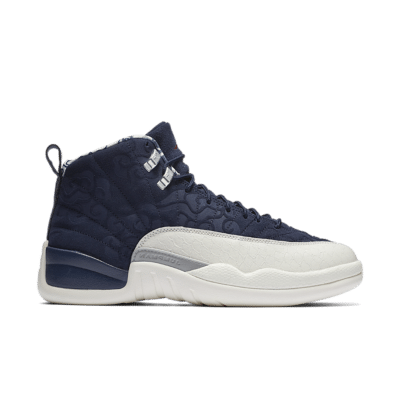 Air Jordan 12 International Flight 'College Navy' College Navy/Sail/University Red BV8016-445