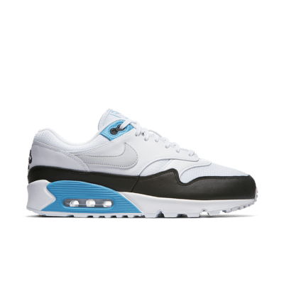 Nike Air Max 90/1 'White and Neutral Grey and Black' White/Black/Laser Blue/Neutral Grey AJ7695-104