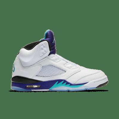 Air Jordan 5 'Fresh Prince' White/Grape Ice/Black/New Emerald AV3919-135