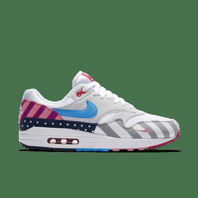 Nike Air Max 1 'Parra' 2018. White/Multi-Colour AT3057-100