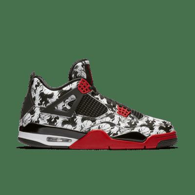 Air Jordan 4 Retro 'Singles' Day 2018′ Release Day Black/Black/White/Fire Red BQ0897-006