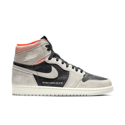 Air Jordan 1 High OG 'Neutral Grey & Hyper Crimson & Black' Neutral Grey/Hyper Crimson/White/Black 555088-018