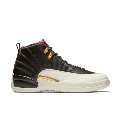 Air Jordan 12 'Black & Metallic Gold & True Red' Black/Sail/Metallic Gold/True Red CI2977-006